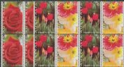AUS SG1445-7 Greetings Stamps, Flower photographs by Lariane Fonseca set of 3 in blocks of 4 & 8